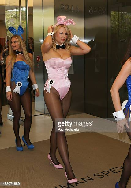 Playboy Playmate Irina Voronina attends the Playboy's 60th Anniversary Celebration with 60 bunnies bus tour Starting at the Playboy World...