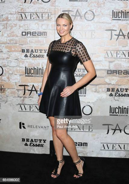 Playboy Playmate Irina Voronina attends the TAO Beauty and Essex Avenue and Luchini LA Grand Opening on March 16 2017 in Los Angeles California