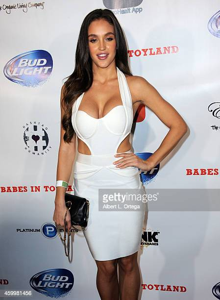 Playboy Playmate Jaclyn Swedberg arrives for the 7th Annual Babes In Toyland Charity Toy Drive For Promises2Kids held at The Living Room at The W...