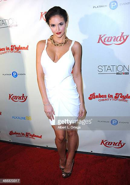 Playboy Playmate Jaclyn Swedberg attends the 6th Annual Babes In Toyland Charity Toy Drive held at The Station at The W Hotel on December 11 2013 in...