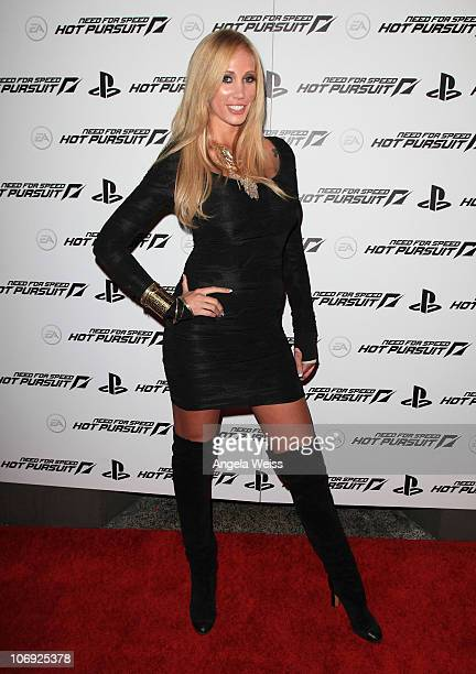 Playboy Playmate Jenna Bentley arrives at EA's 'Need for Speed Hot Pursuit' launch party at Avalon on November 16 2010 in Hollywood California