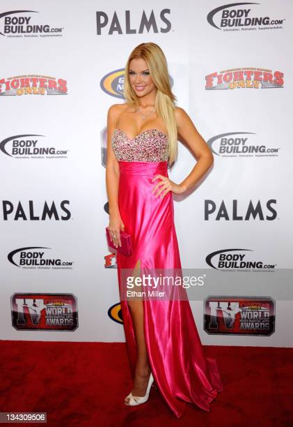 Playboy Playmate Jessa Hinton arrives at the Fighters Only World Mixed Martial Arts Awards 2011 at the Palms Casino Resort November 30 2011 in Las...