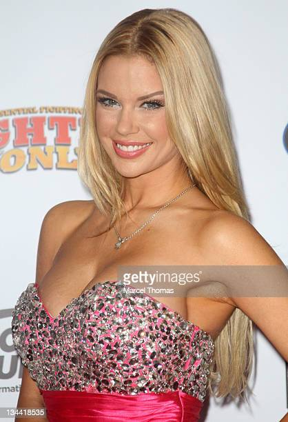 Playboy playmate Jessa Hinton attends the 2011 Fighters Only Mixed Martial Arts Awards at Palms Hotel and Casino on November 30 2011 in Las Vegas...