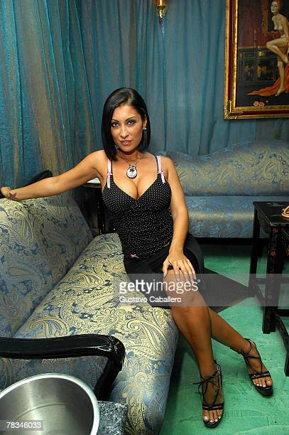 Playboy playmate Jessica Canizales hosts an evening at Gem nightclub on December 9 2007 in Miami Beach Florida