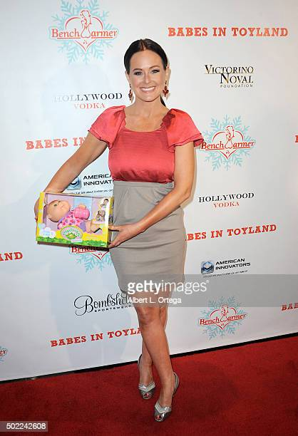 Playboy Playmate Katie Lohmann arrives for the 2015 Babes In Toyland And BenchWarmer Charity Toy Drive held at Avalon on December 9 2015 in Hollywood...