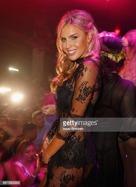 Playboy Playmate Kayla Rae Reid attend the Playboy Midsummer Night's Dream party at the Marquee Nightclub at The Cosmopolitan of Las Vegas on August...