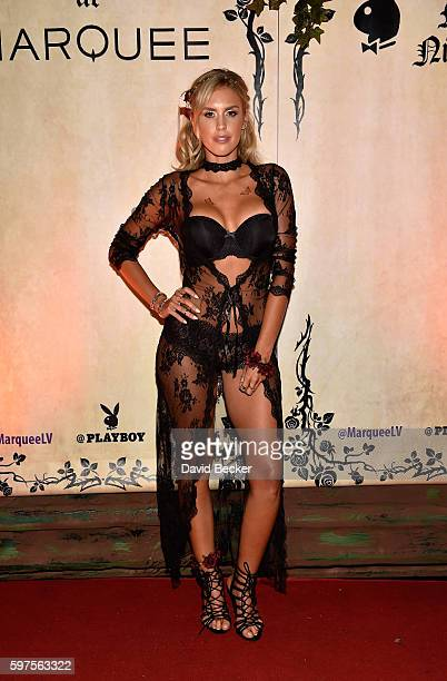 Playboy Playmate Kayla Rae Reid attends the Playboy Midsummer Night's Dream party at the Marquee Nightclub at The Cosmopolitan of Las Vegas on August...