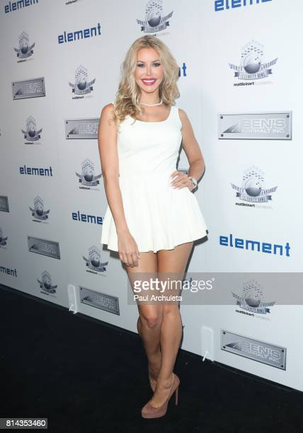 Playboy Playmate Kennedy Summers attends the Matt Leinart Foundation's 9th annual 'Celebrity Bowl' at Lucky Strike Lanes on July 13 2017 in Hollywood...