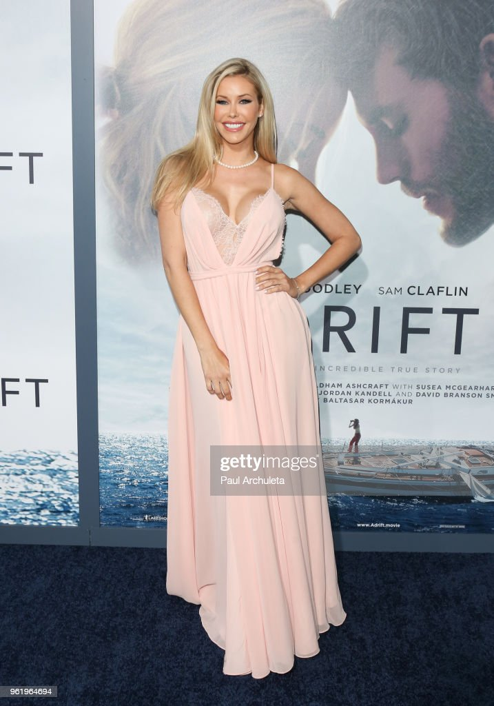 Playboy Playmate Kennedy Summers attends the premiere of STX Films' 'Adrift' at Regal LA Live Stadium 14 on May 23, 2018 in Los Angeles, California.