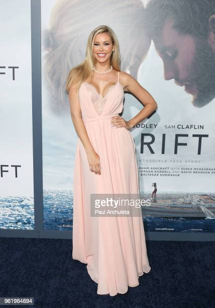 Playboy Playmate Kennedy Summers attends the premiere of STX Films' Adrift at Regal LA Live Stadium 14 on May 23 2018 in Los Angeles California