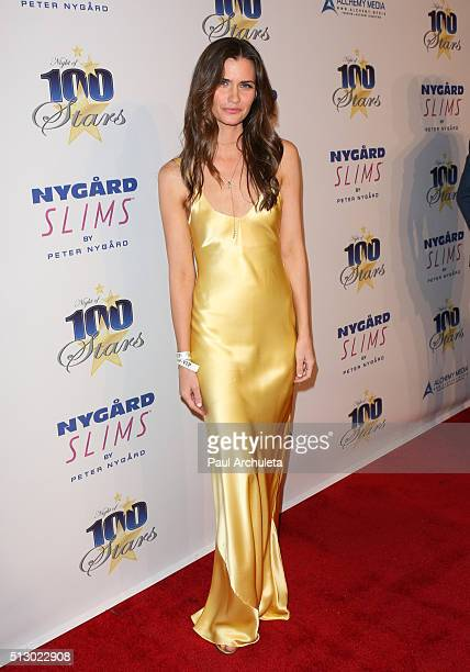 Playboy Playmate Lauren Michelle Hill attends the 26th annual Night Of 100 Stars Oscar viewing party at The Beverly Hilton Hotel on February 28 2016...
