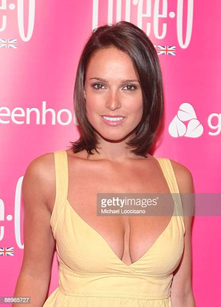 Playboy Playmate Lindsey Vuolo attends the ThreeO Vodka Bubble launch at Greenhouse on July 9 2009 in New York City