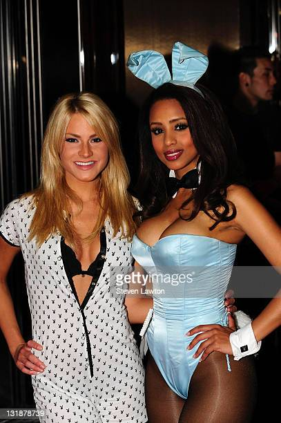 Playboy Playmate May 2007 Shannon James and Playboy Playmate of the Year 2009 Ida Ljungqvist arrive for the BACARDI 'Like It Live' Las Vegas event...