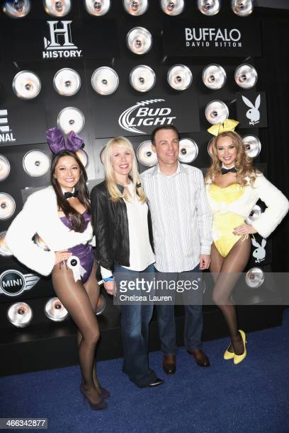 Playboy Playmate Miss August 2004 Pilar Lastra, DeLana Harvick, NASCAR Driver Kevin Harvick and Playboy Playmate Miss September 2011 Tiffany Toth...