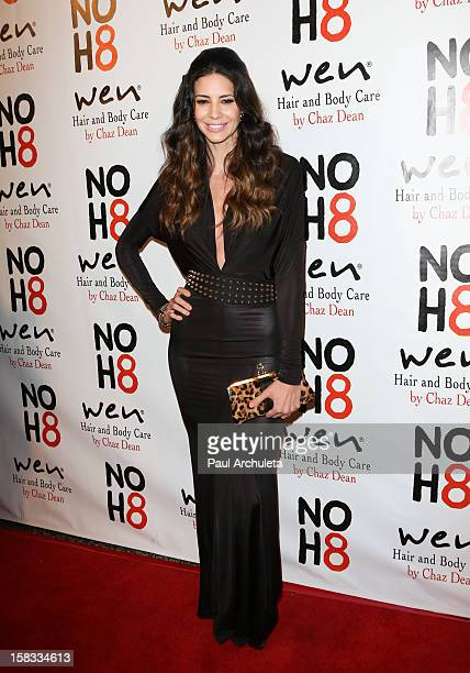 Playboy Playmate / Model Hope Dworaczyk attends 4th anniversary NOH8 campaign celebration at Avalon on December 12 2012 in Hollywood California