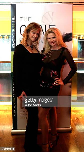 Playboy Playmate Natalia Sokolova and Dr Victoria Zdrok pose for pictures at The Gene Makeover by Dr Vincent Giampapa book launch party February 5...
