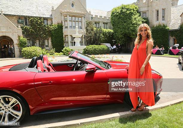 Playboy Playmate Nikki Leigh attends the 2013 Playmate Of The Year announcement at The Playboy Mansion on May 9 2013 in Beverly Hills California