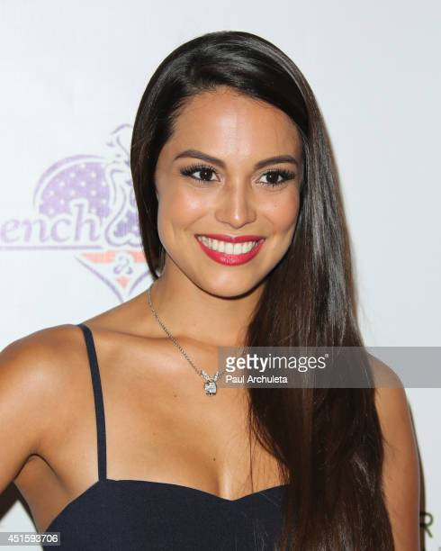 Playboy Playmate Of the Year 2013 Raquel Pomplun attends the annual Stars Stripes charity event hosted by Children Of The Night and BenchWarmer's on...