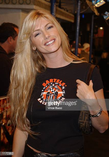 Playboy Playmate of the Year Brande Roderick attends the premiere of the film Thirteen Ghosts October 23 2001 in Los Angeles CA