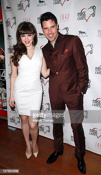 Playboy Playmate of the Year Claire Sinclair and Las Vegas headline Frankie Moreno attend the Launch Party for Mike Tyson Cares Foundation at Tabu...