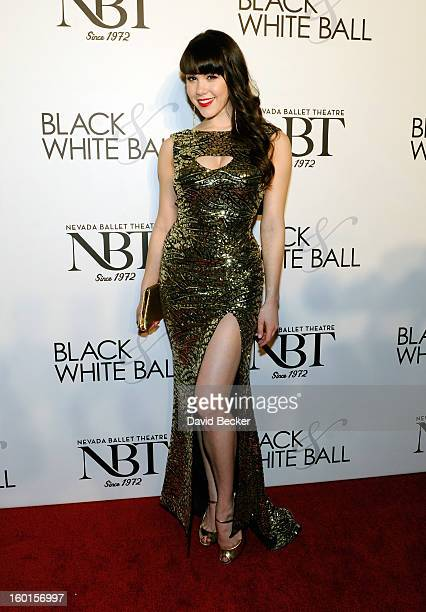 Playboy Playmate of the Year Claire Sinclair arrives at Nevada Ballet Theatre's 29th Annual Woman Of The Year Black White Ball at the Bellagio on...