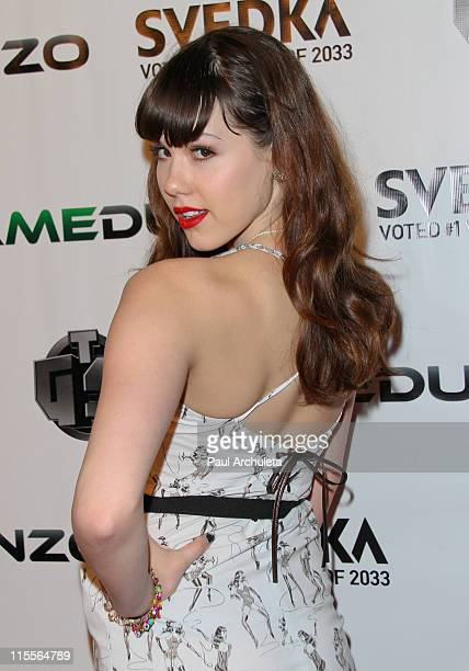 Playboy Playmate of the year Claire Sinclair arrives at the E3 red carpet launch party at Suede in the Westin Bonaventure Hotel on June 7 2011 in Los...