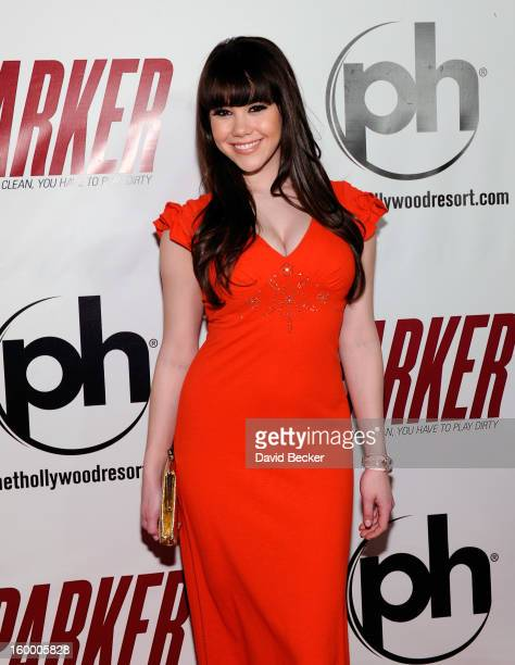 Playboy Playmate of the Year Claire Sinclair arrives at the premiere of FilmDistrict's Parker at Planet Hollywood Resort Casino on January 24 2013 in...