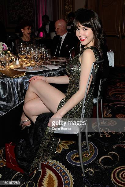 Playboy Playmate of the Year Claire Sinclair attends Nevada Ballet Theatre's 29th Annual Woman Of The Year Black White Ball at the Bellagio on...