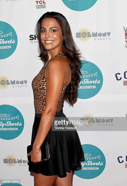 Playboy Playmate of the Year Raquel Pomplun attends HollyShorts 10th anniversary opening night at TCL Chinese Theatre on August 14 2014 in Hollywood...