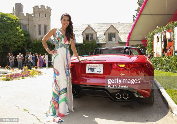 Playboy Playmate of the Year Raquel Pomplun attends the 2013 Playmate Of The Year announcement at The Playboy Mansion on May 9 2013 in Beverly Hills...