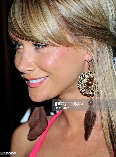 Playboy Playmate of the Year Sara Jean Underwood arrives at the Chateau Nightclub Gardens at the Paris Las Vegas April 30 2011 in Las Vegas Nevada
