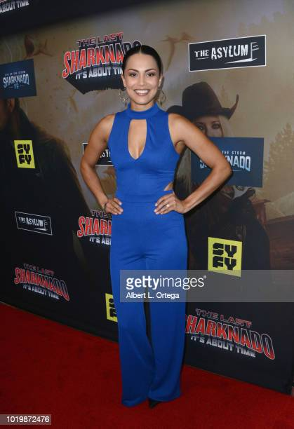 Playboy Playmate Raquel Pomplun arrives for the Premiere Of The Asylum And Syfy's 'The Last Sharknado It's About Time' held at Cinemark Playa Vista...