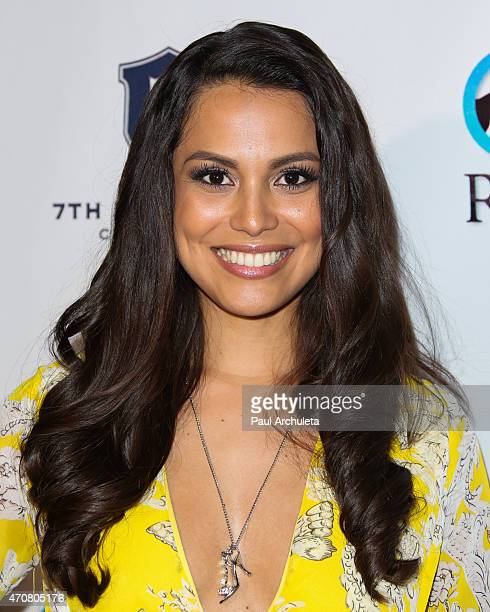 Playboy Playmate Raquel Pomplun attends the Babes In Toyland charity toy drive at Boulevard3 on April 22 2015 in Hollywood California