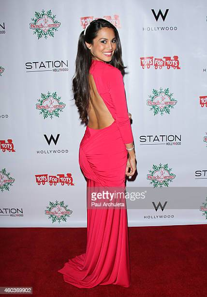 Playboy Playmate Raquel Pomplun attends the BenchWarmer 10th annual Winter Wonderland Toys For Tots Christmas Celebration at Station Hollywood at W...