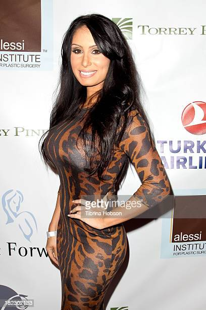 Playboy Playmate Ruby Palm attends the 4th annual Face Forward LA Gala at Fairmont Miramar Hotel on September 28 2013 in Santa Monica California