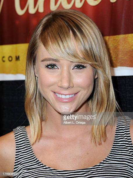 Playboy Playmate Sara Underwood attends Day 1 of Wizard World Chicago Comic Con 2013 at the Donald E Stephens Convention Center on August 9 2013 in...