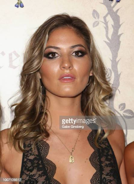 Playboy Playmate Shauna Sexton arrives at Playboy's Midsummer Night's Dream at the Marquee Nightclub at The Cosmopolitan of Las Vegas on July 29 2018...