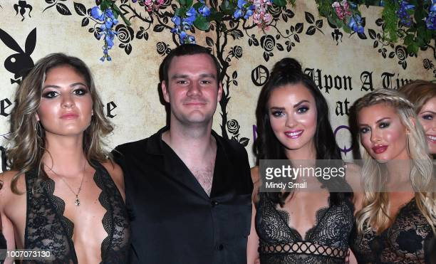 Playboy Playmate Shauna Sexton Chief Creative Officer of Playboy Cooper Hefner Playboy Playmates Alexandra Tyler and Heather Rae Young arrive at...