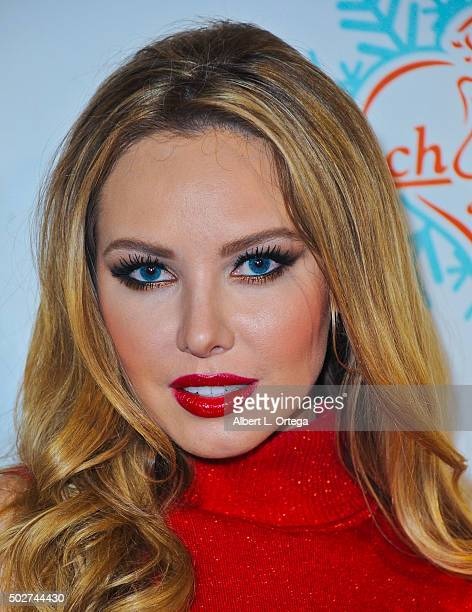 Playboy Playmate Tiffany Toth arrives for Babes In Toyland And BenchWarmer Charity Toy Drive held at Avalon on December 9 2015 in Hollywood California