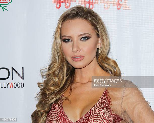 Playboy Playmate Tiffany Toth attends the BenchWarmer 10th annual Winter Wonderland Toys For Tots Christmas Celebration at Station Hollywood at W...