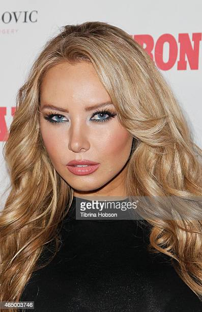 Playboy Playmate Tiffany Toth attends the Iron Man Magazine launch party at Blvd 3 on March 2 2015 in Hollywood City