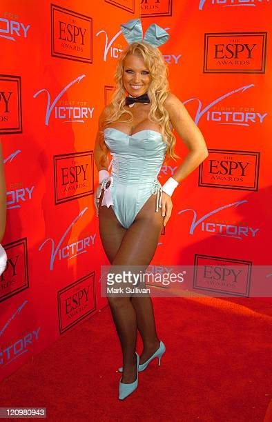 Playboy Playmate Tina Jordan during Andy Roddick Hosts 13th Annual ESPY Awards PreParty Arrivals at Playboy Mansion in Beverly Hills California...