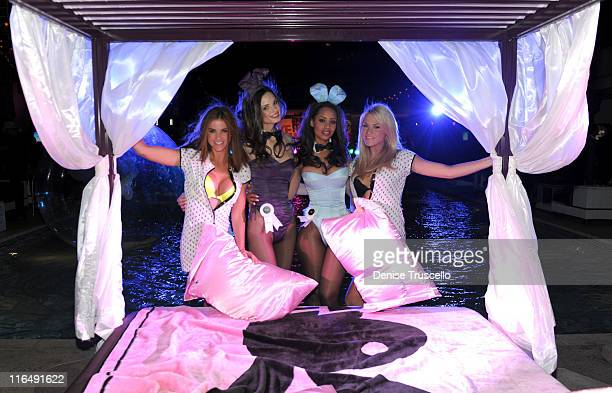 Playboy Playmates Alison Waite Kassie Lyn Logsdon Ida Ljungqvist and Shannon James attend the BACARDI Like It Live Las Vegas event with CeeLo Green...