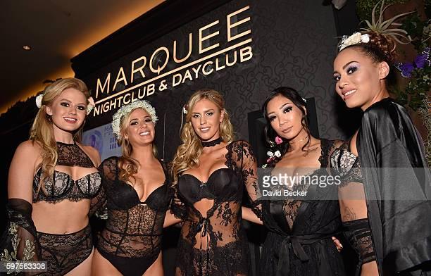 Playboy Playmates Anna Sophia Berglund Audrey Aleen Allen Kayla Rae Reid Hiromi Oshima and Shanice Jordyn attend the Playboy Midsummer Night's Dream...