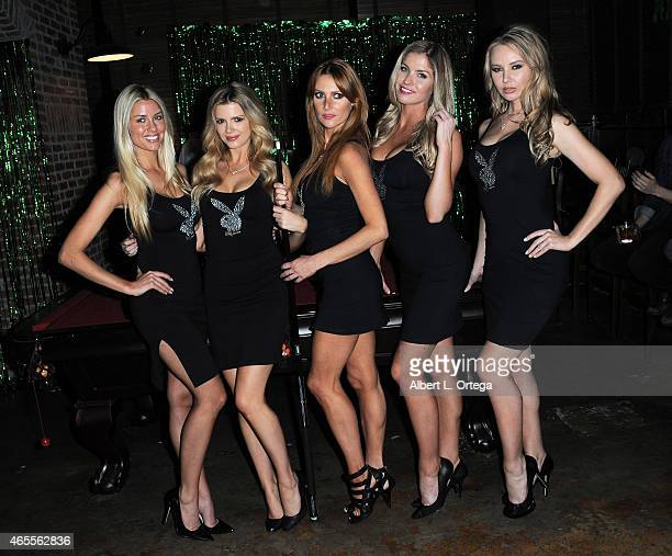 Playboy Playmates at the 'Muck' after party at Smithhouse Tap Grill on February 26 2015 in Los Angeles California