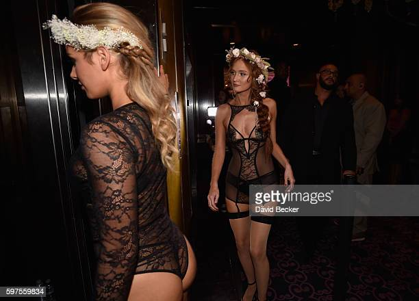 Playboy PLaymates Audrey Aleen Allen and Dominique Jane attend the Playboy Midsummer Night's Dream party at the Marquee Nightclub at The Cosmopolitan...