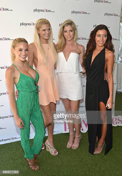 Playboy Playmates Dani Mathers Kristen Nicole Carly Lauren and Gemma Lee Farrell attend Playboy's 2014 Playmate Of The Year Announcement and...