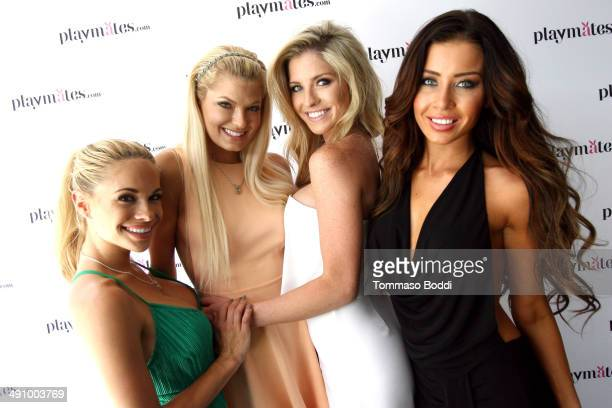 Playboy Playmates Dani Mathers Kristen Nicole Carly Lauren and Gemma Lee Farrell attend the Playboy's 2014 Playmate Of The Year announcement luncheon...