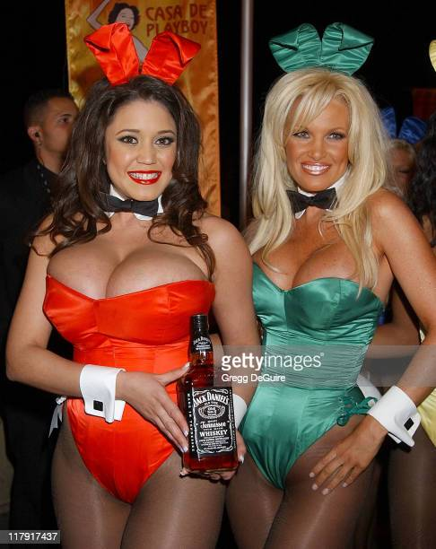 Playboy Playmate's during Hugh Hefner and Playboy Host Playboy's Fourth Annual Super Saturday Night Arrivals at The House of Hospitality in San Diego...
