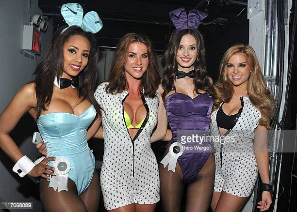 Playboy playmates Ida Ljungqvist Alison Waite Kassie Lyn Logsdon and Shannon James attend the BACARDI Rums Like It Live Terminal 5 on June 13 2011 in...